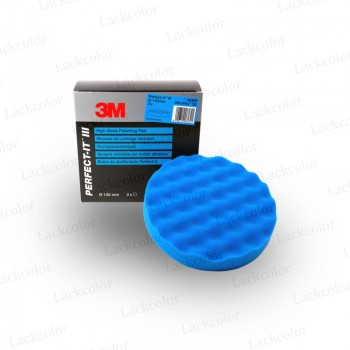 3M 50388 Hochglanzpolierpad Anti Hologramm Polierschwamm Blau genoppt 150mm