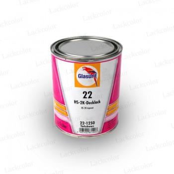 Glasurit 22-1250 Schwarz glänzend 2K Mischlack Reihe 22 1 Liter