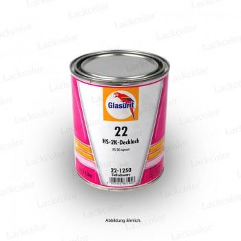 Glasurit 22-M974 Carbonschwarz 2K Mischlack Reihe 22 1 Liter