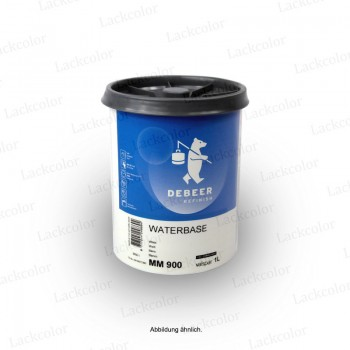 DeBeer Wasserbasislack MM911 Tiefschwarz 1 Liter