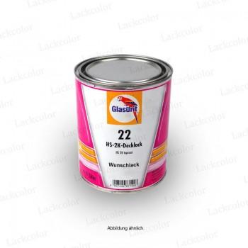 Glasurit 22 Reihe Wunschlack Ral Einschicht Lack 0,25 Liter